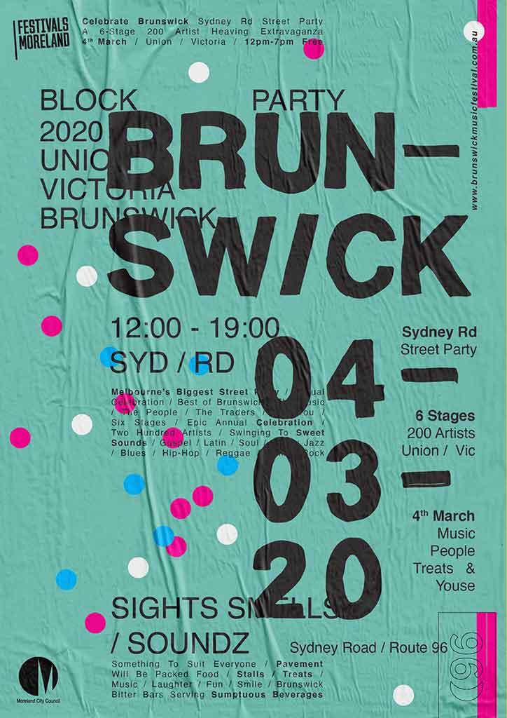 brunswick-street-festival-flyer_wheatpaste-green_scaled-for-web_jason-harding