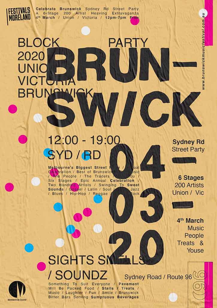 brunswick-street-festival-flyer_wheatpaste-yelllow_scaled-for-web_jason-harding